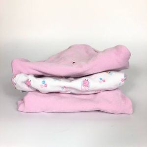 3 Small/Medium Swaddle Blankets baby girl